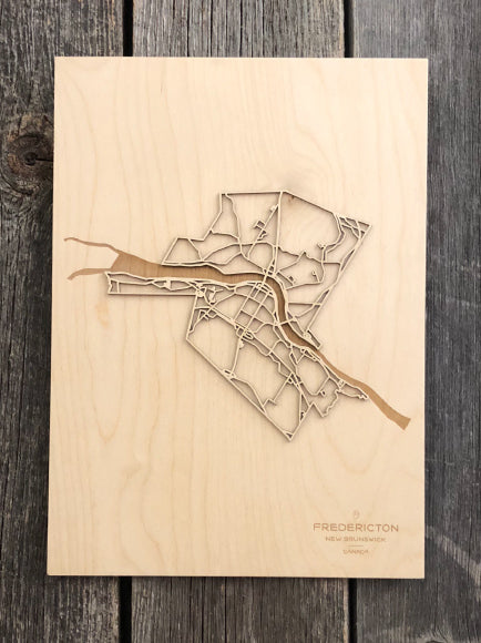 Fredericton Street Map