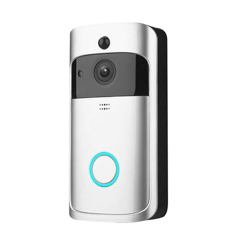 HD 720P WiFi Smart Wireless Night Vision Security DoorBell with Visual Intercom Recording