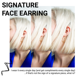 SIGNATURE FACE EARRING