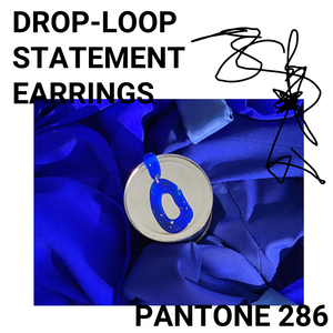 DROP-LOOP STATEMENT EARRINGS: BLUE