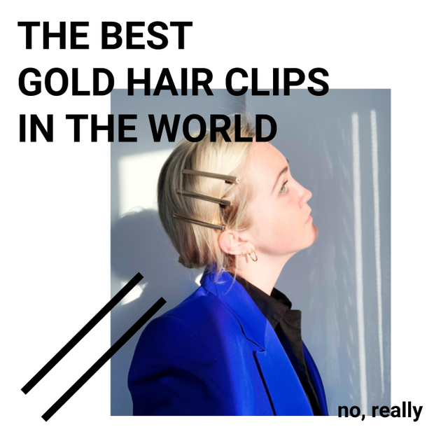 THE BEST GOLD HAIR CLIPS IN THE WORLD (THREE)