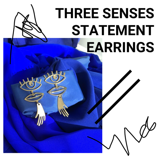 THREE SENSES STATEMENT EARRING (SINGLE)