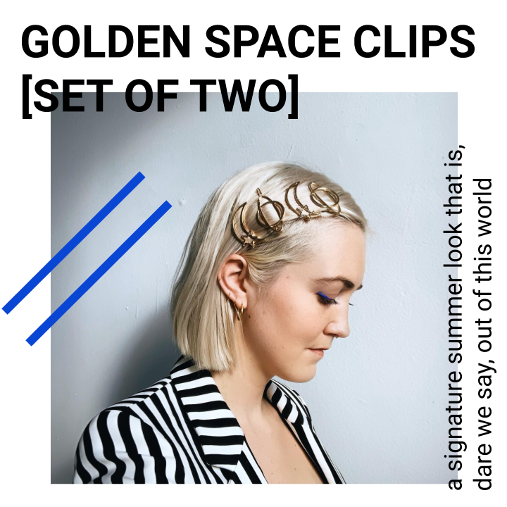 GOLDEN SPACE CLIPS [SET OF 2]
