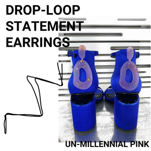 DROP-LOOP STATEMENT EARRINGS: PINK