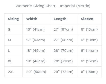 Women's T-Shirt Sizing