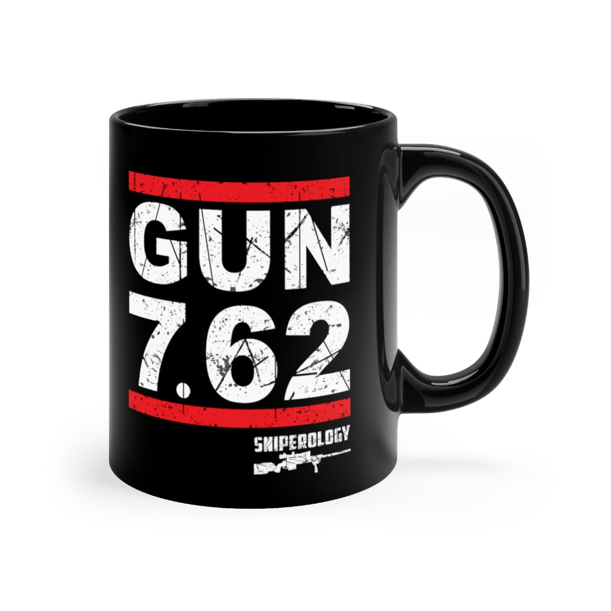 Gun 7.62 - Black mug 11oz - Sniperology