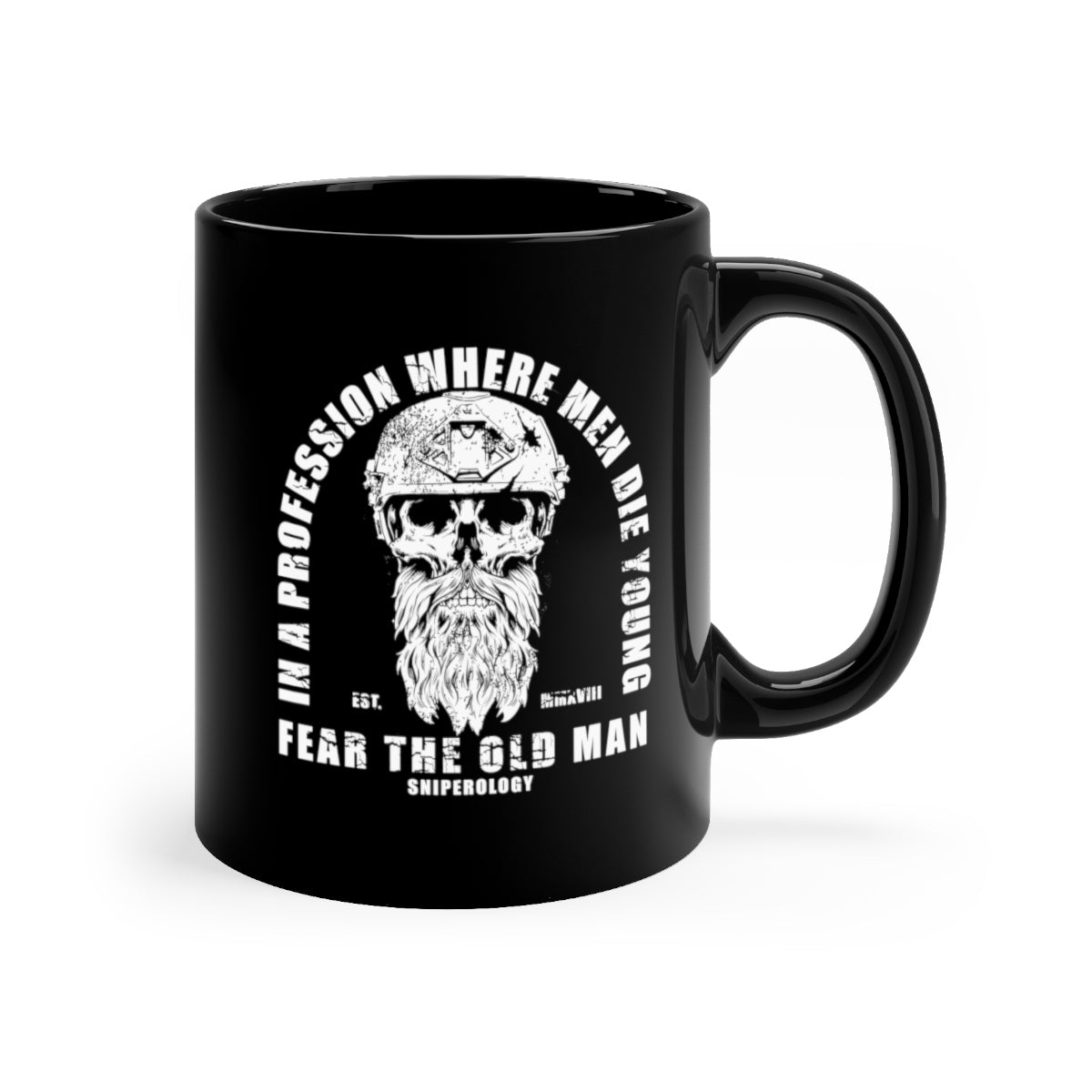 Fear The Old Man - Black mug 11oz - Sniperology