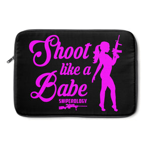 Shoot like a Babe - Laptop Sleeve - Sniperology