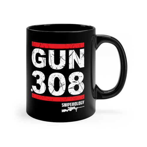 Gun .308 - Black mug 11oz - Sniperology