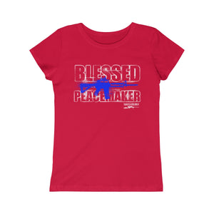 Blessed Peacemaker - Girls Princess Tee - Sniperology
