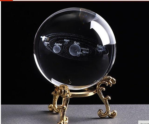 3D Solar System Figurines & Miniatures JingHanLu Co., LTD. Store Gold base