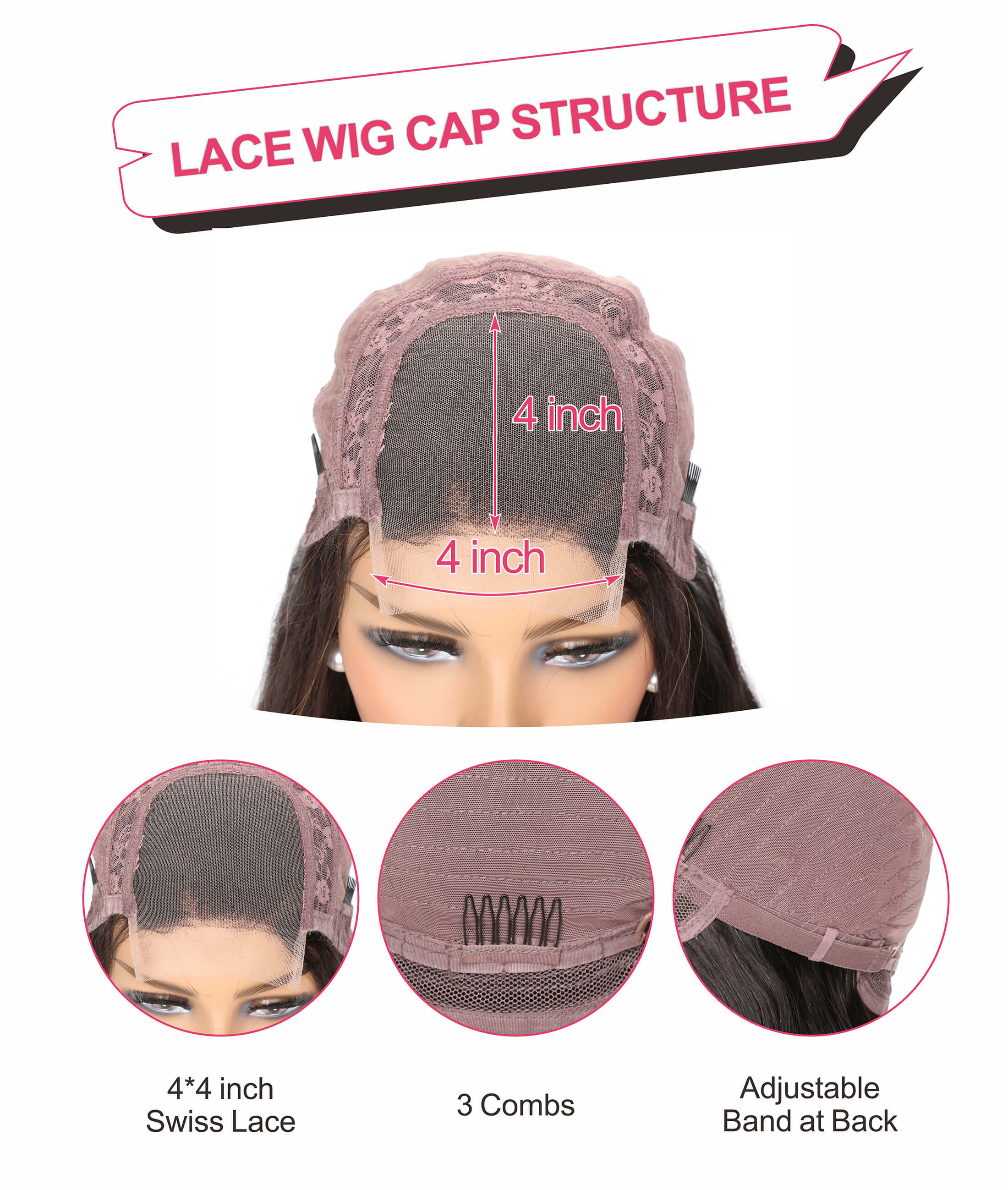 lace closure wig lace cap