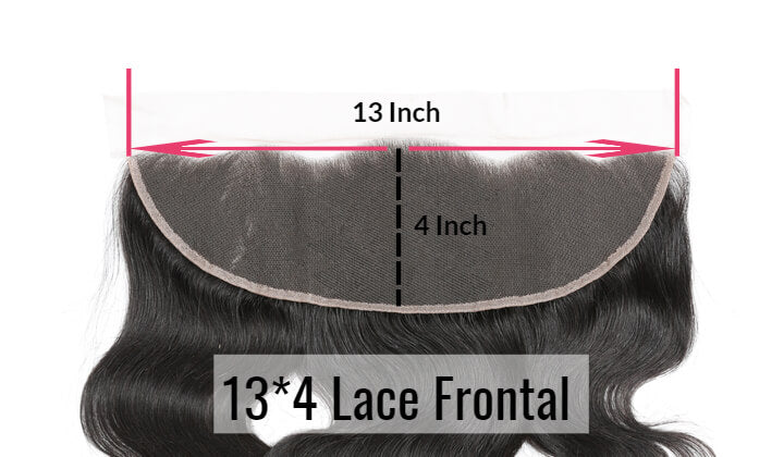 Black Show Hair 13-4 Body Lace Frontal