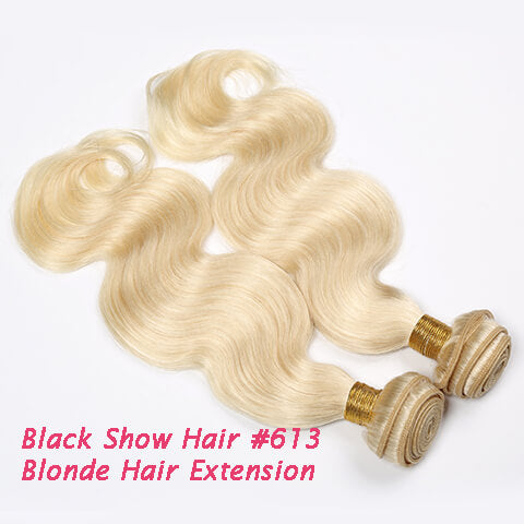 Black Show Hair #613 Blonde Hair Body Wave extension