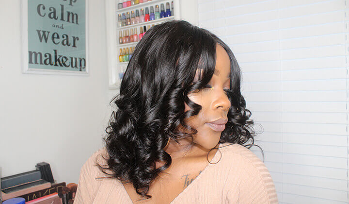 Black Show Hair big curl hair weave