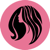 black show hair salon logo