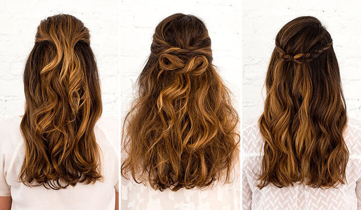 Wednesday's Half up Half down hairstyle