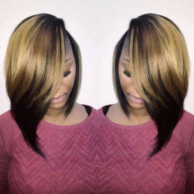 Asymmetrical Bob With Layers