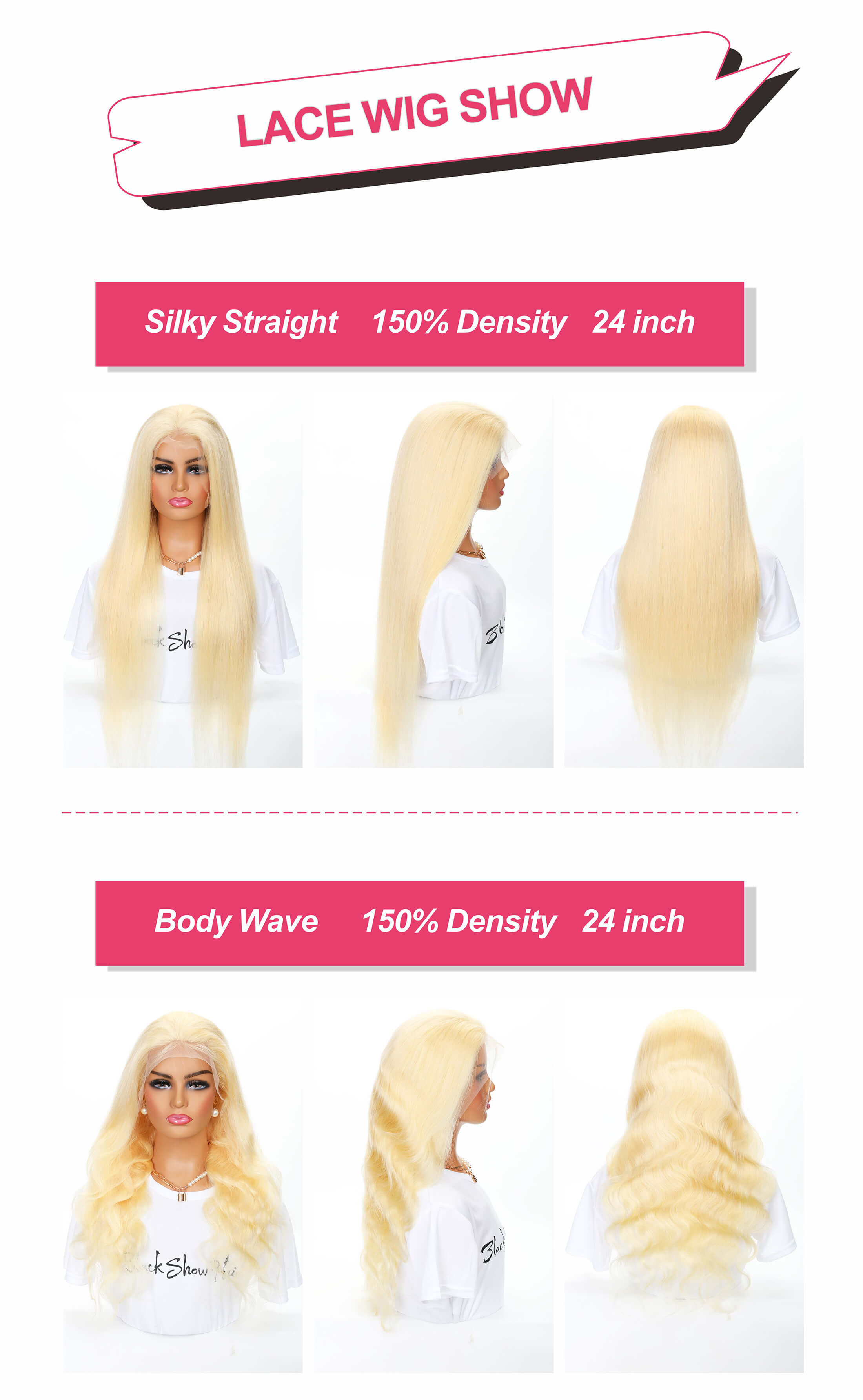 transparent lace 613 blonde wig 13*4 lace front wig