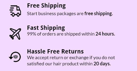 start hair business packages are free shipping