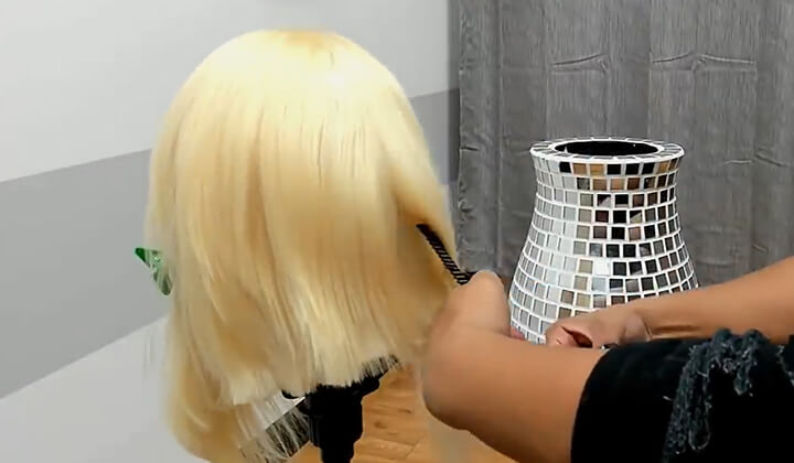 haircut blonde hair wigs