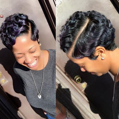Pixie Cut Of Finger Wave Hairstyles