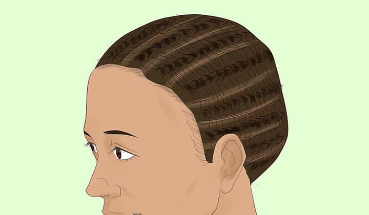 put hair in cornrows