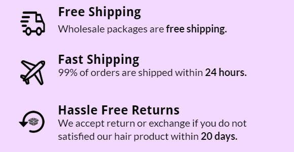 wholesale hair packages are free shipping