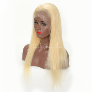 613 blonde hair full lace wig straight style - Black Show Hair
