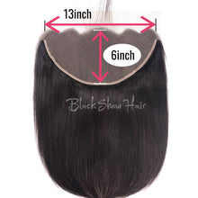 Black Show Hair straight 13-6 lace frontal natural color human hair