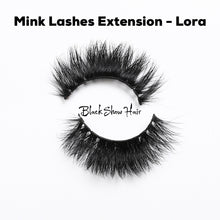 3D Mink Lashes Extension - Lora - Black Show Hair