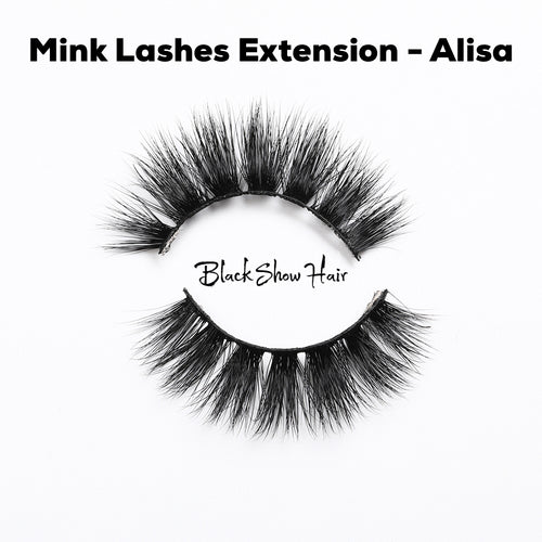 3D Mink Lashes Extension - Alisa - Black Show Hair