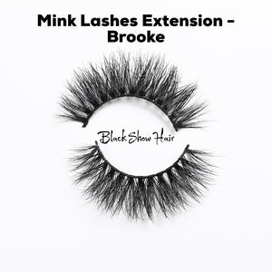 3D Mink Lashes Extension - Brooke - Black Show Hair