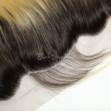 T1B/613 Ombre  Blonde Silky Straight Lace Frontal - Black Show Hair