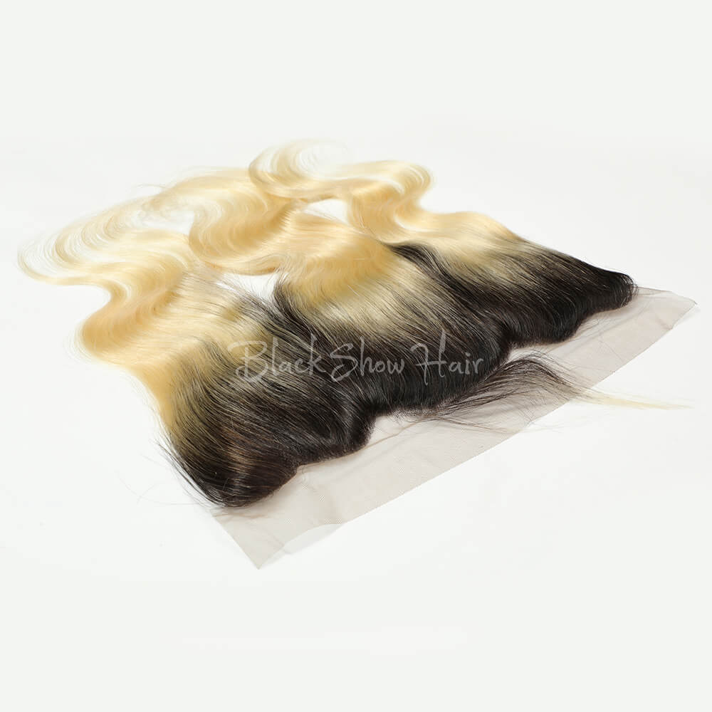 T1B/613 Ombre  Blonde Body Wave Lace Frontal - Black Show Hair