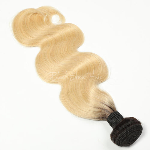 T1b/613 Ombre Blonde Hair Bundle Body Wave - Black Show Hair