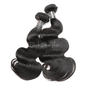 Virgin Cambodian Body Wave Hair Bundles - Black Show Hair