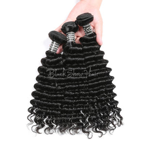 Virgin Cambodian Deep Wave Hair Bundles - Black Show Hair