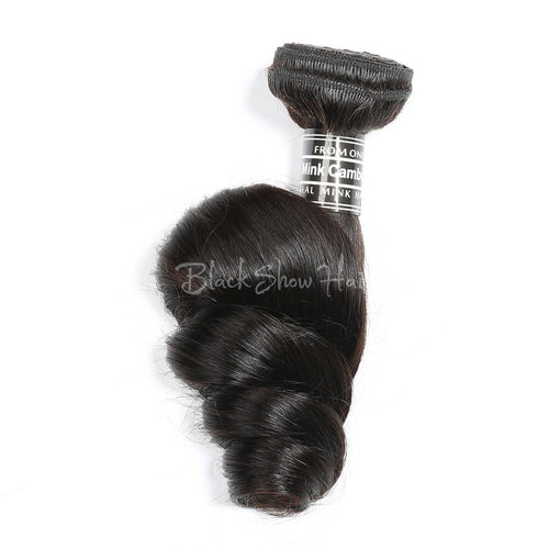 Virgin Cambodian Loose Wave Hair Bundles - Black Show Hair