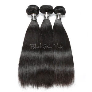 Virgin Cambodian Straight Hair Bundles - Black Show Hair