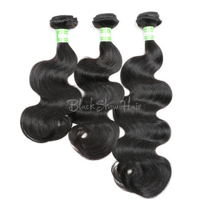 Virgin Indian Body Wave Hair Bundles - Black Show Hair