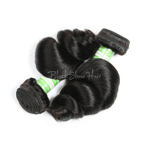 Virgin Indian Loose Wave Hair Bundles - Black Show Hair