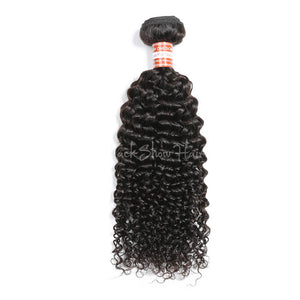 Virgin Malaysian Jerry Curly Hair Bundle - Black Show Hair