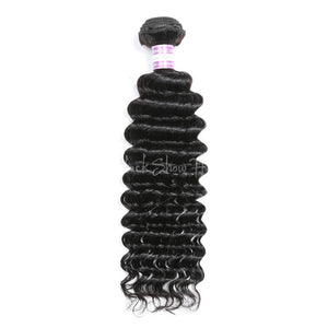 Virgin Peruvian Deep Wave Hair Bundles - Black Show Hair