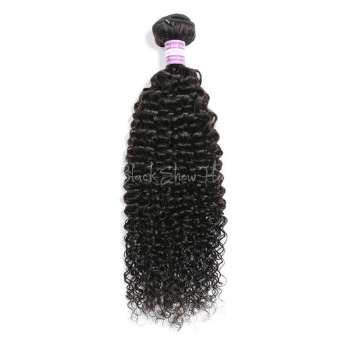 Virgin Peruvian Jerry Curly Hair Bundles - Black Show Hair