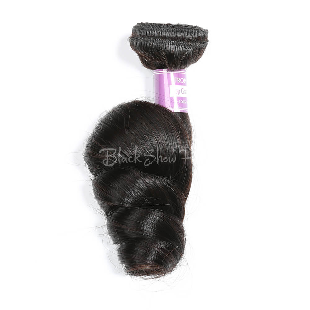 Virgin Peruvian Loose Wave Hair Bundles - Black Show Hair