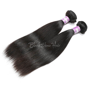Virgin Peruvian Straight Hair Bundles - Black Show Hair