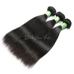 Virgin Indian Straight Hair Bundles - Black Show Hair