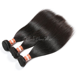 Virgin Malaysian Straight Hair Bundle - Black Show Hair
