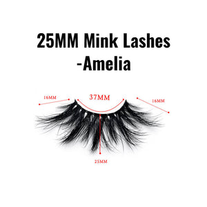 25mm mink lashes Amelia